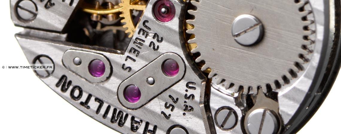 Boutons de Manchette - Mécanisme de Montre Hamilton