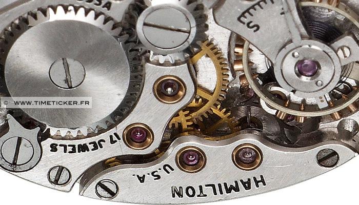 Boutons de Manchette Mécanisme Montre Hamilton (Long) Close Up 2