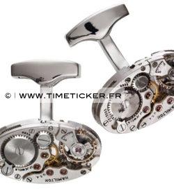 Boutons de Manchette Mécanisme Montre Hamilton (Long)