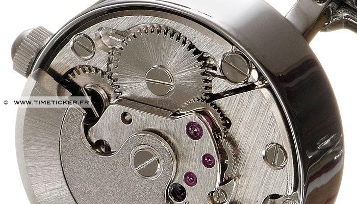 Boutons de manchette en mécanisme de montre (fonctionne)