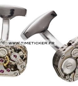 Boutons de Manchette Mécanisme Montre - Wittnauer
