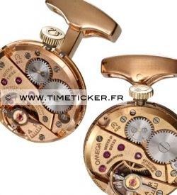 Boutons de Manchette Mécanisme de montre - Omega