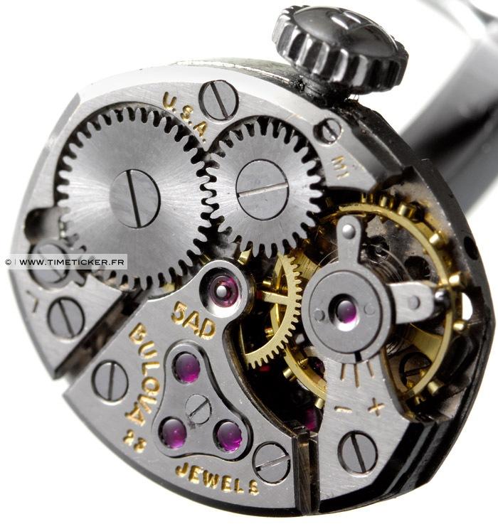 Boutons de manchette en mécanisme de montre - Bulova