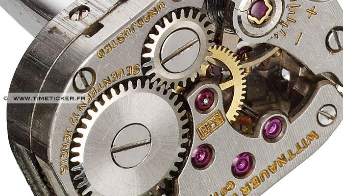 Boutons de Manchette Mécanisme Montre - Wittnauer (Close up)