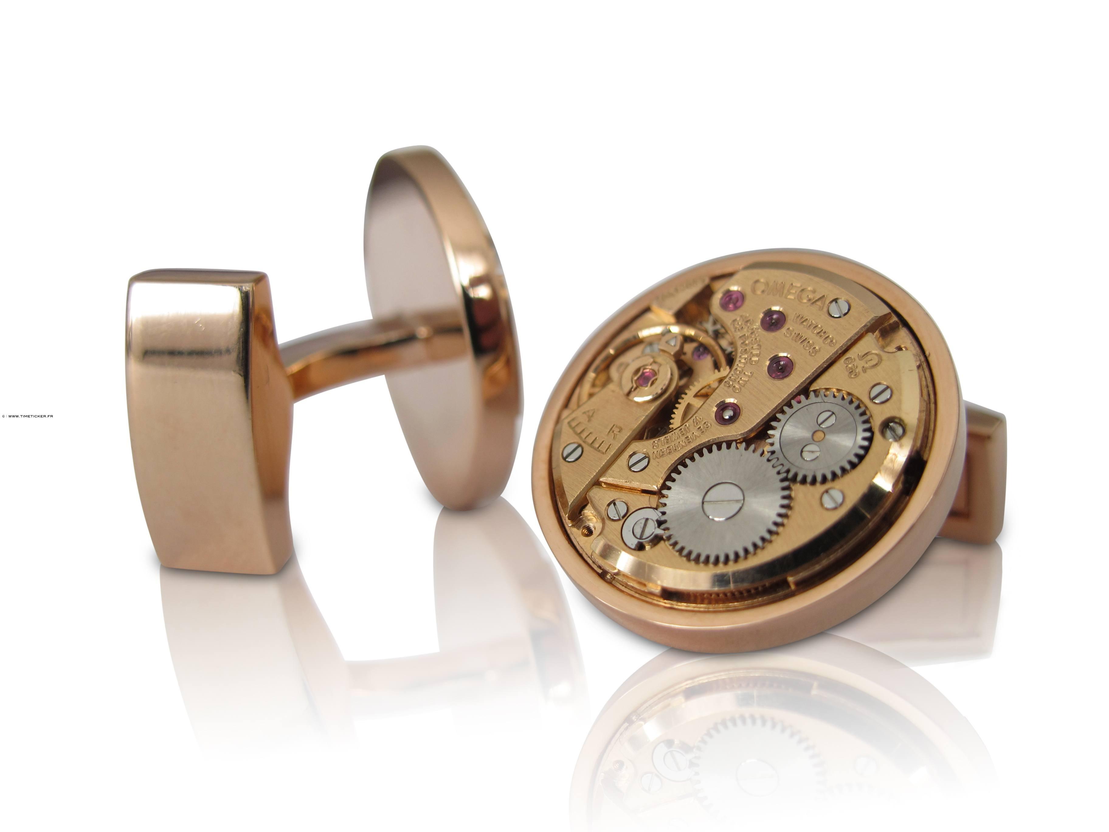 Boutons de Manchette Mécanisme de montre cerclé - Omega